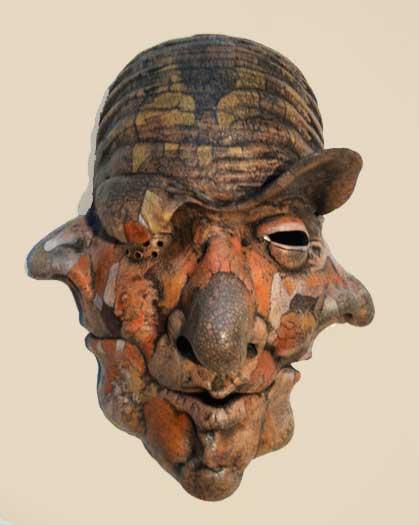 Bill Abright Ceramic Mask Pyro Past Present Future